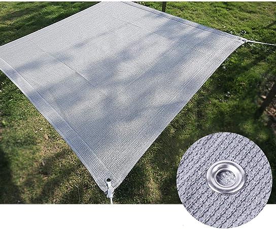 Toldo Vela de Sombra Rectangular 6,6ft*6,6ft 90% Resistente Rayos UV for Estanque Malla de sombreo jardín o Planta Tasa de sombreado Cubiertas de Techo de la Perrera de Coches Sombra Solar Malla: