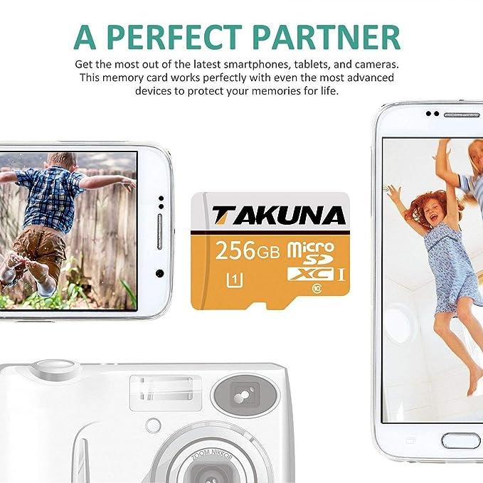 TAKUNA - Tarjeta de memoria Micro SD SDXC (128 GB, adaptador de tarjeta SD)