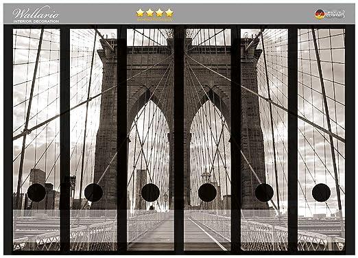 Archivadores pegatinas del puente de Brooklyn en Nueva York ...