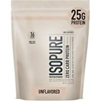 Isopure Zero Carb Unflavored 25g Protein, 100% Whey Protein Isolate, Keto Friendly Protein Powder, No Added Colors…