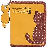 (ダマラ)Damara レディーズ 財布 ワレット 小さい 可愛い 水玉柄 猫ちゃん