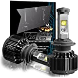 CougarMotor H7 60W LED Headlight Bulbs All-in-One Conversion Kit,7200 Lumen (6000K Cool White)