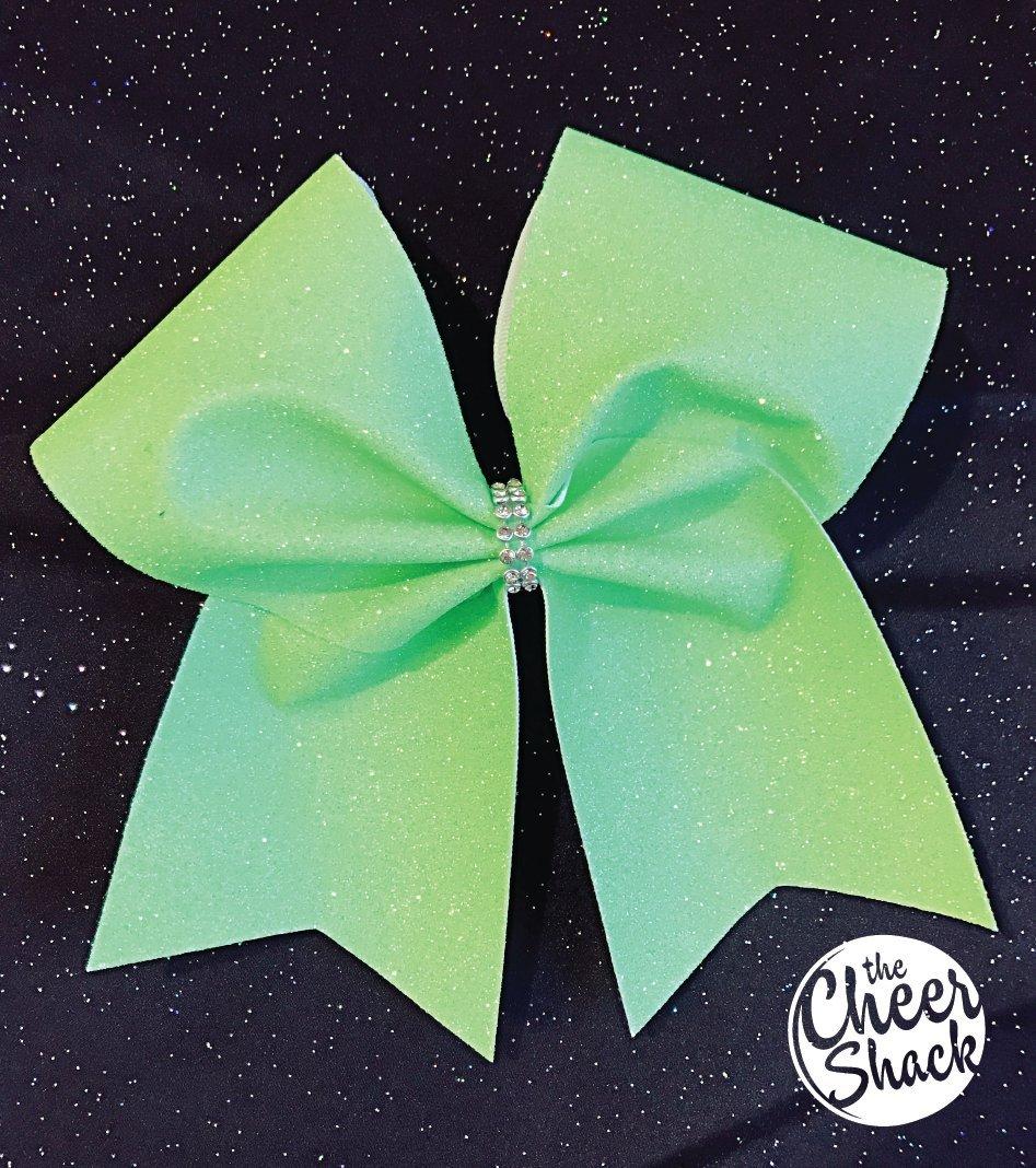 Neon Green Glitter Cheer Bow, Cheer Bow