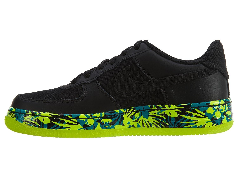 Nike 314192_Synthetik Air Force 1 Gs 314192_Synthetik Nike Unisex-Kinder Niedrig-Top Sneaker Schwarz/Rot/Blau (schwarz / schwarz - Volt - Rio Teal) afa7d9