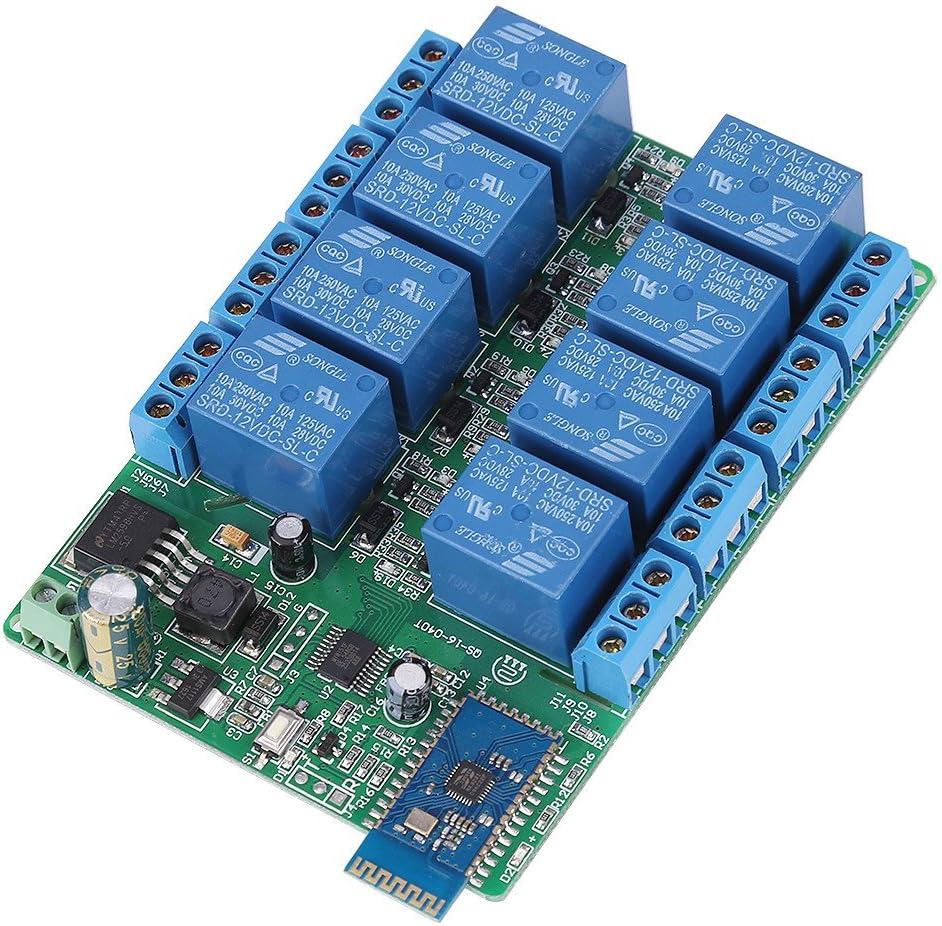 1 unid DC 12 V 8 canales de relé de Bluetooth de control remoto del módulo de relé de relé de la luz del motor para móvil Android