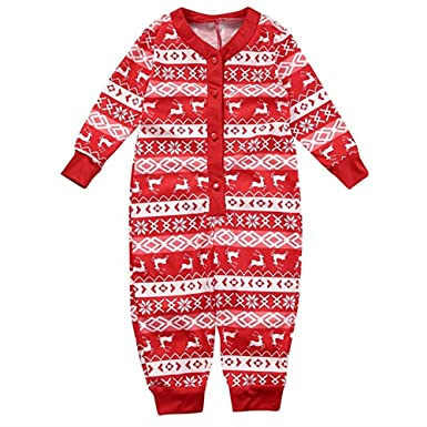 Image Unavailable. Image not available for. Colour  Lydreewam Family  Matching Christmas Pyjamas Set Dad Mom Kids Baby Cotton Sleepwear Outfits a81f9b125