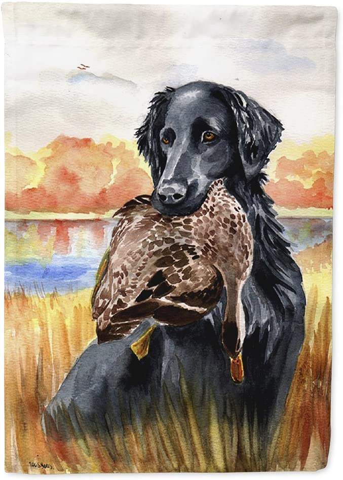 Caroline's Treasures 7032GF Flat Coated Retriever Flag Garden Size, Small, Multicolor