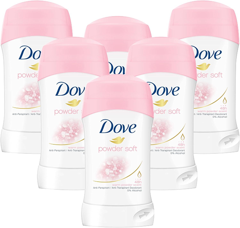 Dove Barras desodorantes antiperspirantes con aroma «polvo ...