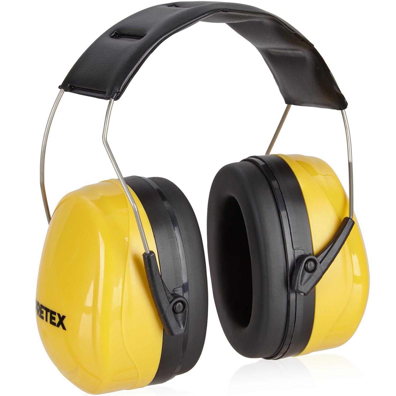 PRETEX casque antibruit professionnel SNR 31 dB avec haut confort grâce à un poids réduit et au serre-tête réglable | protection auditive, protection des oreilles, protection sonore, protecteurs auditifs eSpring GmbH