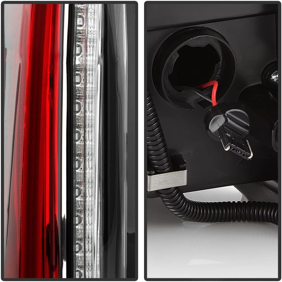 Full LED Tail Lights Brake Lamps Replacement Left+Right ACANII For 2007-2014 Cadillac Escalade ESV Upgrade Design