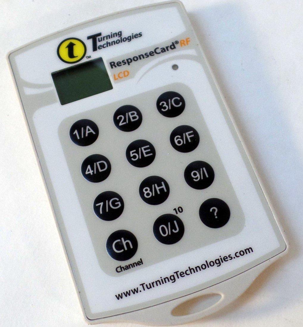 Turning Technologies RCRF-03 RF LCD Classroom Clicker Keypad Student Remote Turning Technologies Cana