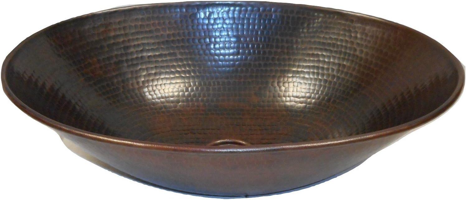 SimplyCopper 17 Oval Copper Vessel Vanity Bathroom Sink