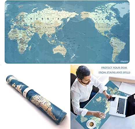 Large Ultra-Thin Anti-Slip Table Computer Desk Keyboard Game Mouse Pad Mat Blue