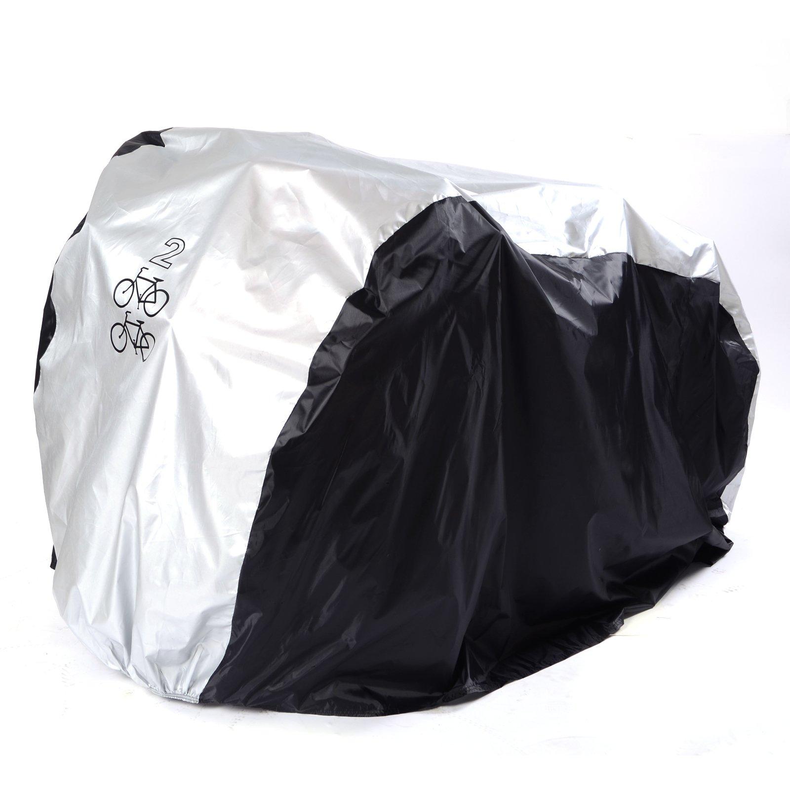 Funda Protector de Polyester Cubierta con Bolsillo 200 x 75 x 110 cm para Bicicleta Motocicleta
