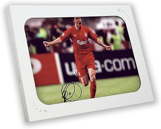 Vladimir Smicer Firmado fotografía de Liverpool: Usted nunca caminará solamente en caja de regalo: Amazon.es: Deportes y aire libre