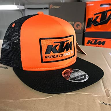 6dcc88799e85a ktm Men s Team Trucker Snapback Hat (Orange)  Amazon.in  Clothing    Accessories