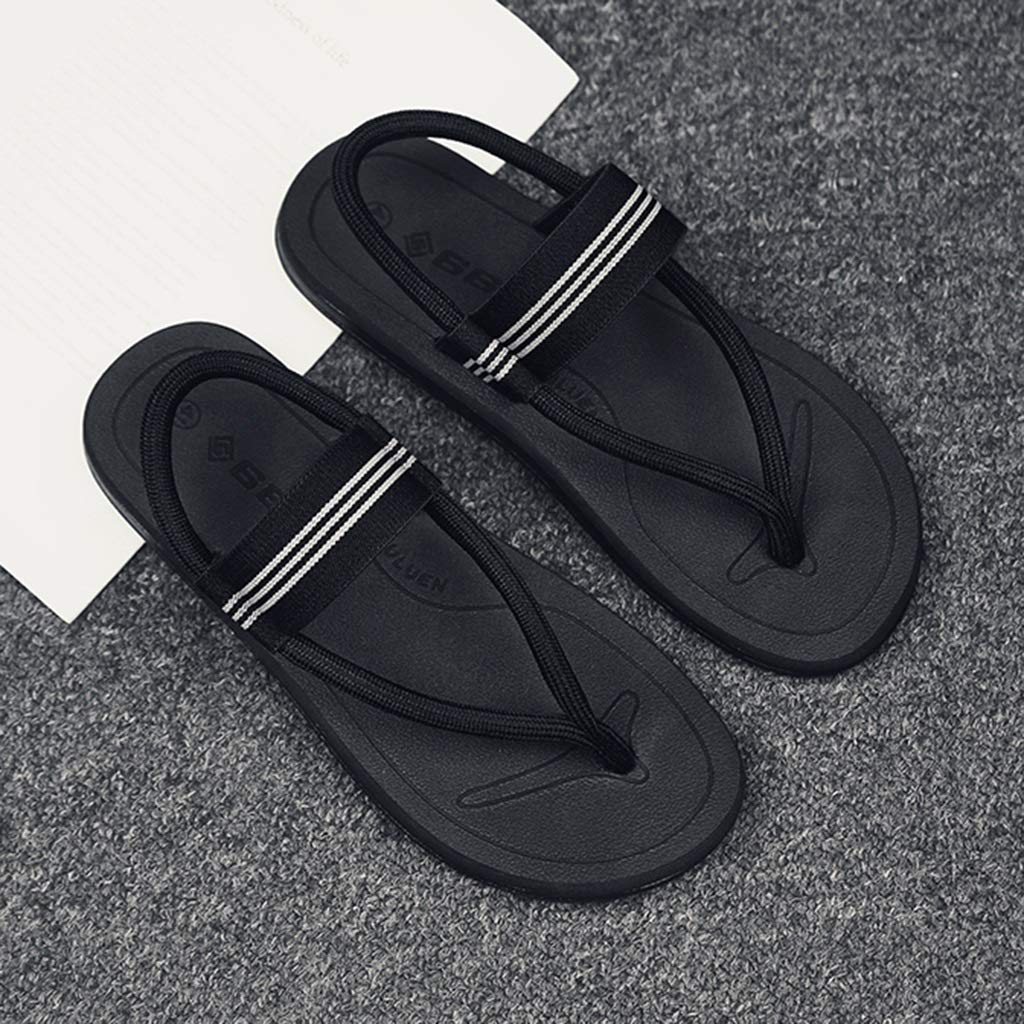 Color : Black, Size : 9M US N.Y.L.A Size: Slippers Sandals Flip Flops Mens Sandals Mens Slippers Summer Wear Fashion Flip Flops Mens Beach Sandals Summer Personality Sandals Outdoor Color: