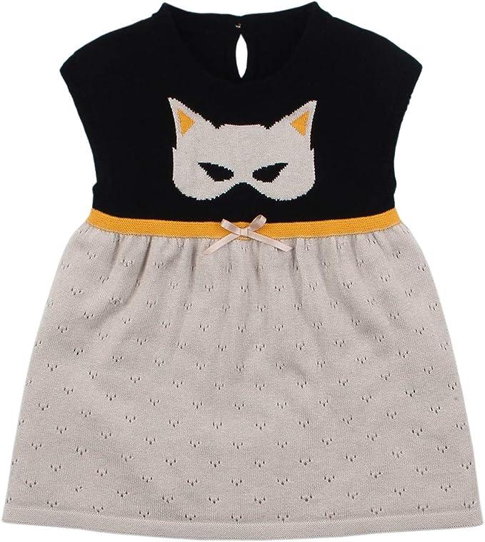 Borlai Vestido Casual sin Mangas de algodón para niñas bebés Vestido de una Pieza para niñas [Gato]: Amazon.es: Ropa y accesorios
