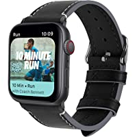 Fullmosa 8 Colori Cinturino per Apple Watch 40mm/44mm, Cinturino Compatibile con Apple Watch Series 4, per Apple Watch/iWatch Nike + Series 4,44mm Nero + Fibbia Grigia fumé