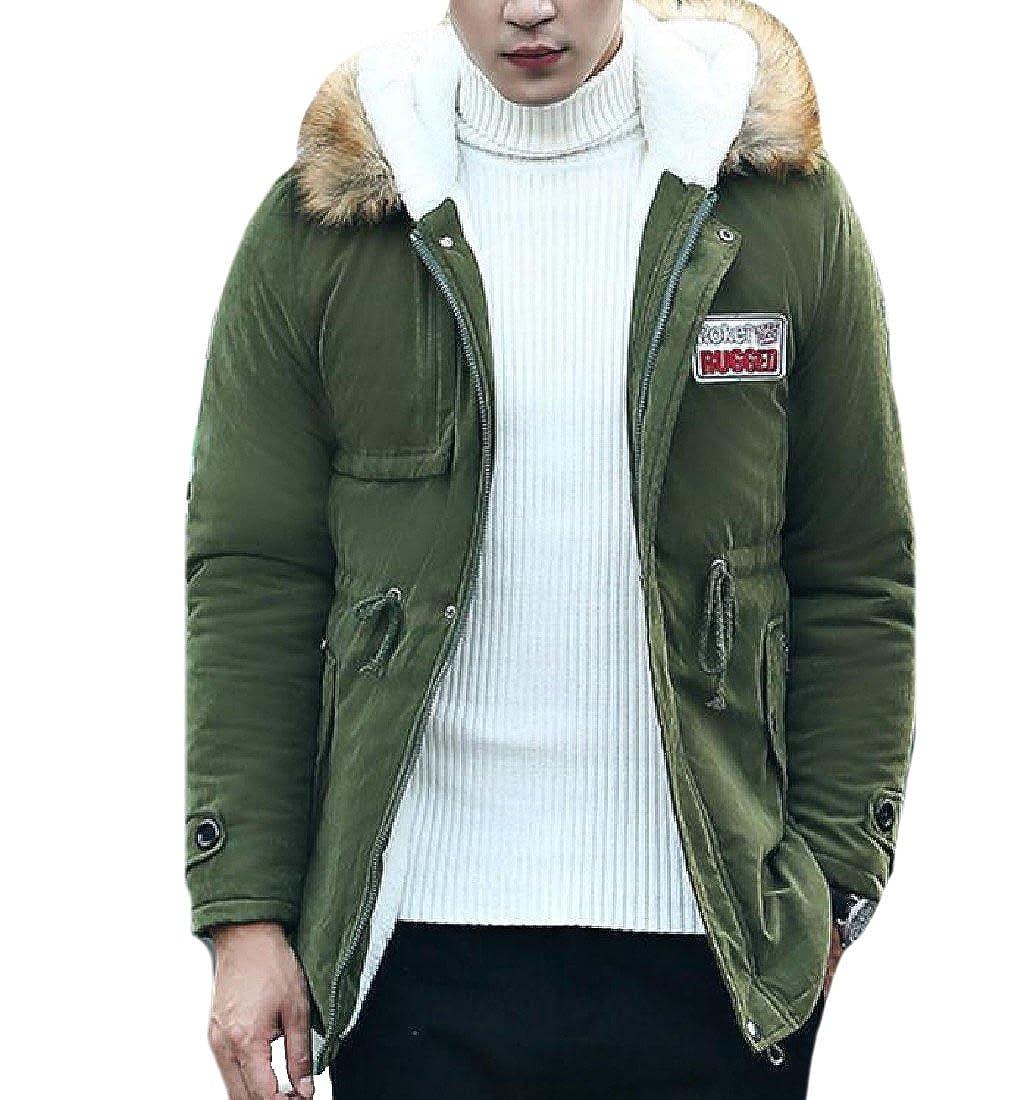 Zimaes Men Fur Collar Zip Up Stay Warm Large Size Anorak Jacket At Jaket Roxxer Amazon Mens Clothing Store