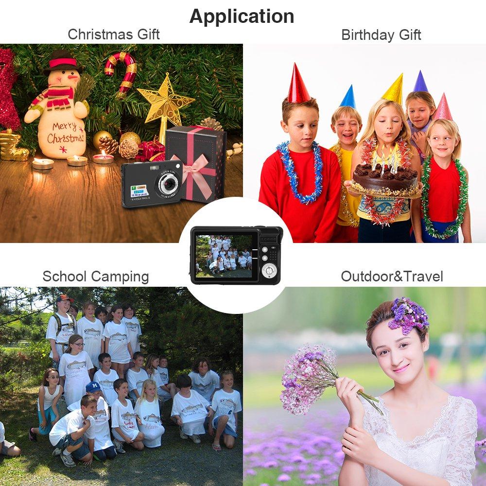 Yasolote HD Mini Point Shoot Digital Camera Video Recorder Cameras Sports,Travel,Holiday,Birthday Present by Yasolote (Image #5)