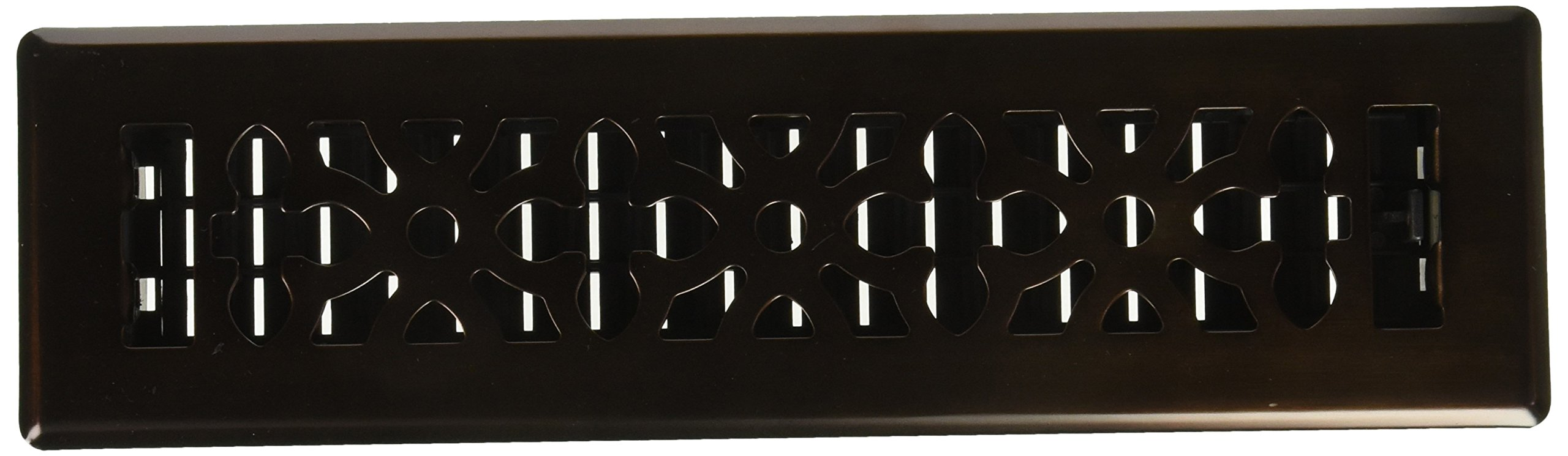 Decor Grates AGH212-RB 2-Inch by 12-Inch Gothic Bronze Steel Floor Register