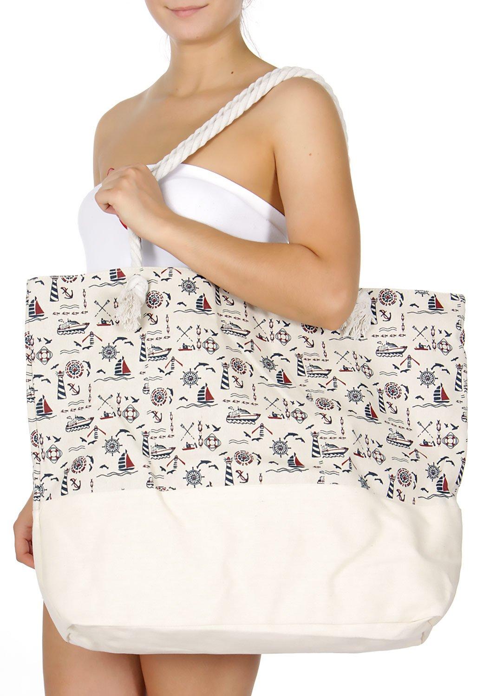 SERENITA Extra large canvas beach bag Summer