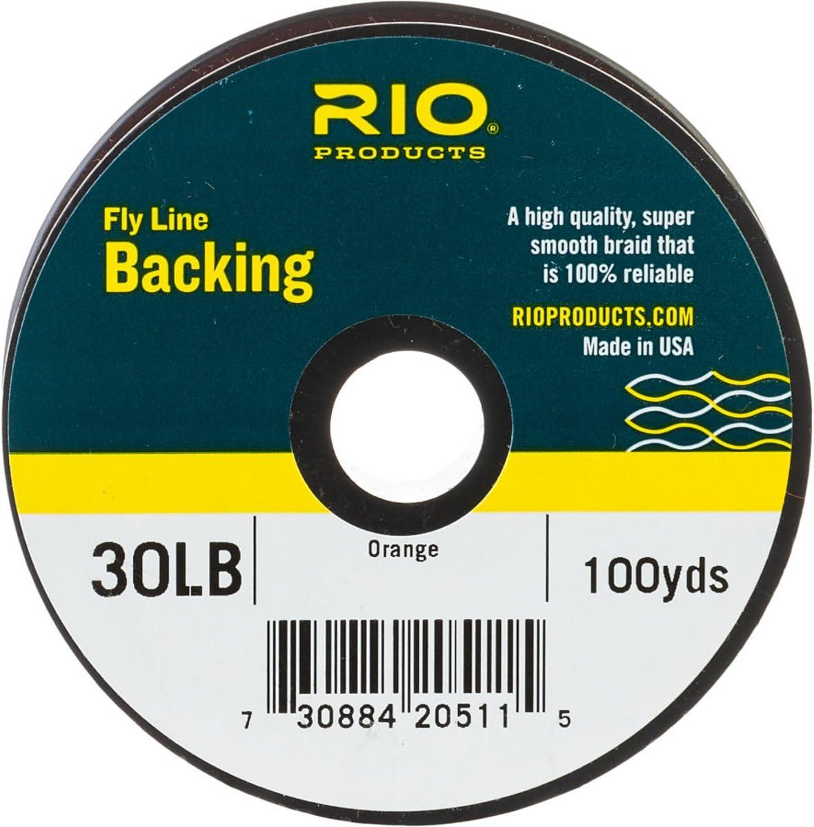 Rio Fly Fishing Backing Dacron 30Lb 100 yd. Fly Tying Equipment, Orange