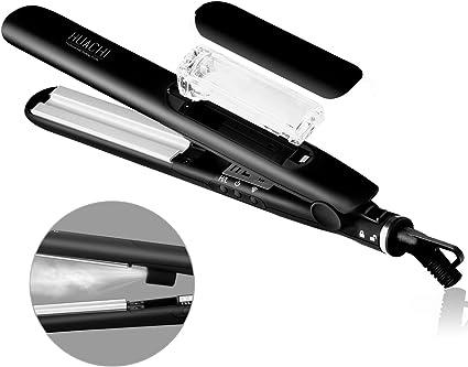 Plancha y rizador de pelo a vapor 2 en 1 Huachi V179, iónica ...