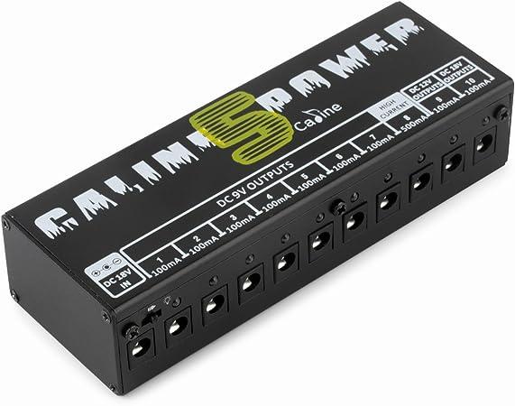 Caline CP-05 guitarra pedal Board fuente de alimentación 10 ...