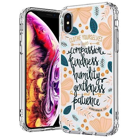 Mosnovo Coque Iphone Xs Coque Iphone X Flower Floral Fleur Citation