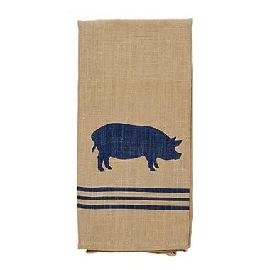 Olivia's Heartland Pig Sty Dishtowel - Country Farmhouse Kitchen Funny Dish Towels