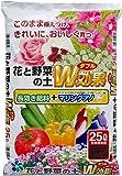 自然応用科学 花と野菜の土 W効果 25L