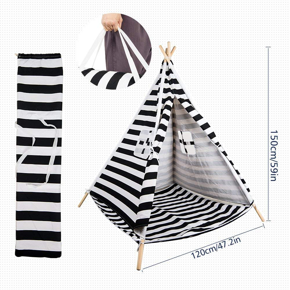 Amazon.com: TOP-MAX Kids Play Tent Bed Indoor Tipi Tent ...