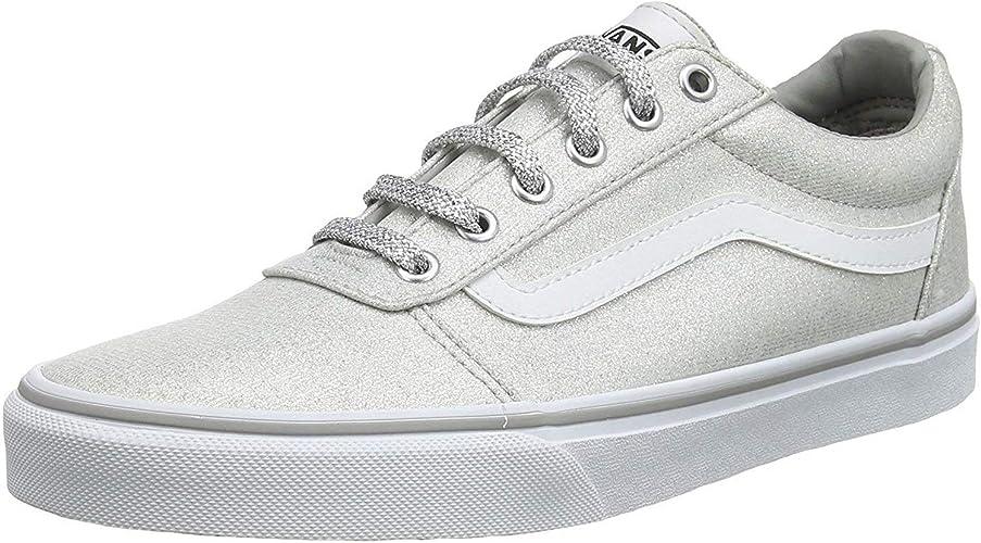 Sneaker Vans Ward Platform Canvas Black White Damen