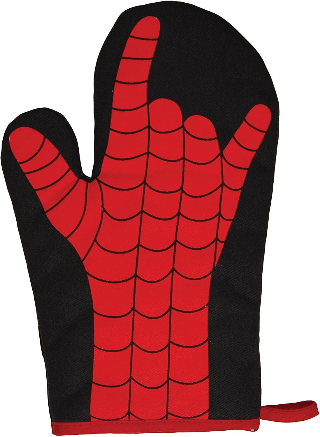 Spider Web Slinger Hand Oven Glove. Cool Funky Novelty Kitchen and Cooking Tool