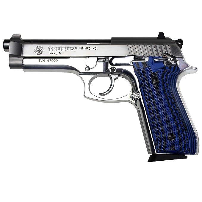 StonerCNC Taurus PT92 Grips Full Checker G10 Gun Grips fit PT 92 Taurus  Pistol with Decocker