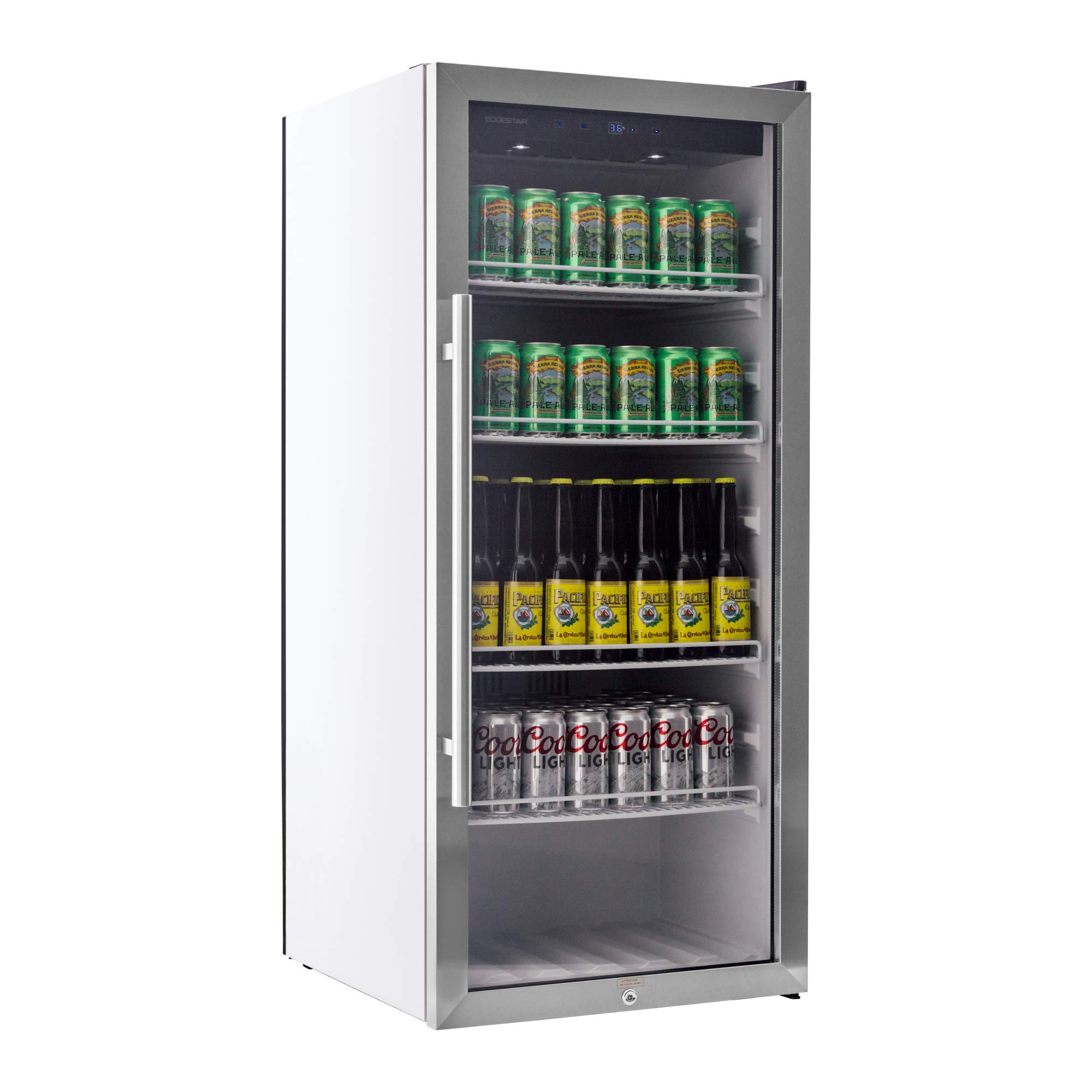 EdgeStar VBR240 Stainless Steel 22 Inch Wide 8.6 Cu. Ft. Commercial Beverage Merchandiser with Temperature Alarm by EdgeStar