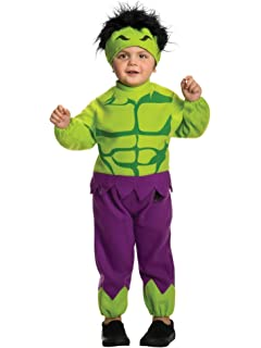 Marvel Avengers Assemble Incredible Hulk Costume T-Shirt with Mask Domestic 620030/_S Small Rubies