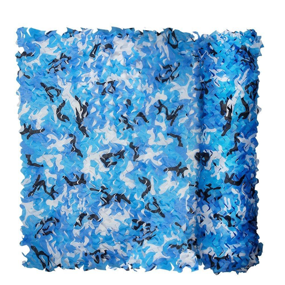 Filet de camouflage Bleu pour enfants 3x 2m pour les petits salons du Chambre à coucher Filet de camouflage armée Camo Filet Tissu Oxford Tente Parasol Excellent pour camping chasse XUE