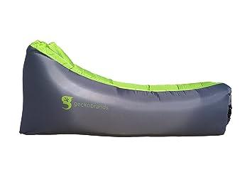 Amazon.com: geckobrands Relax - Tumbona de aire, color gris ...
