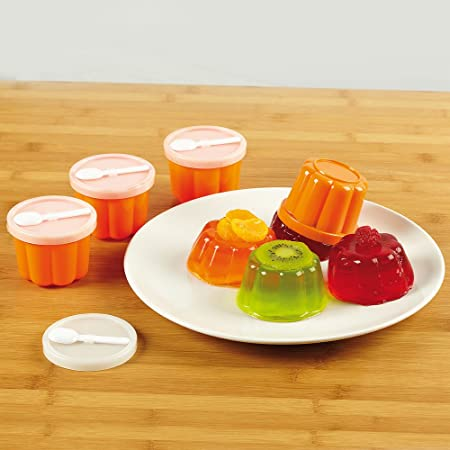 Jelly Moulds With Lids And Spoons 4 Amazon Co Uk Kitchen Home