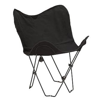Fat Catalog Metal Butterfly Chair, Black, ALT OUG1002BK SO