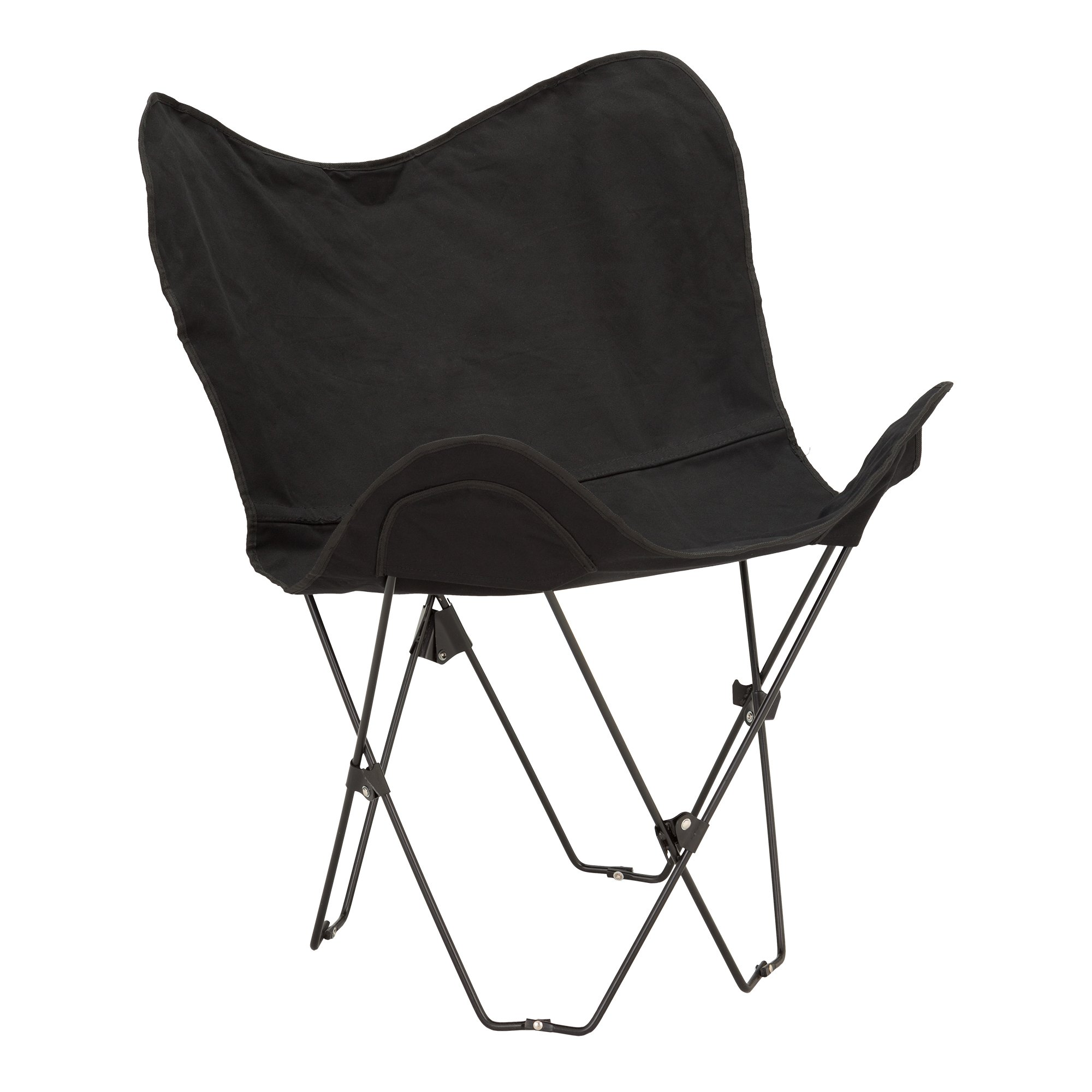Fat Catalog Metal Butterfly Chair, Black, ALT-OUG1002BK-SO