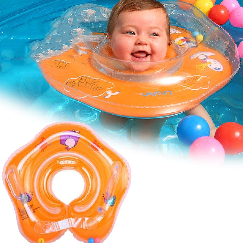 Halsring Babywanne Schwimmen Baby Neck Float Orange Baby Infant Inflatable Neck Float Ring zum Schwimmen im Bad Baby Neck Float f/ür Bad Erste Schwimmwagen f/ür Kinder iusaSDZ Babyschwimmschwimmer