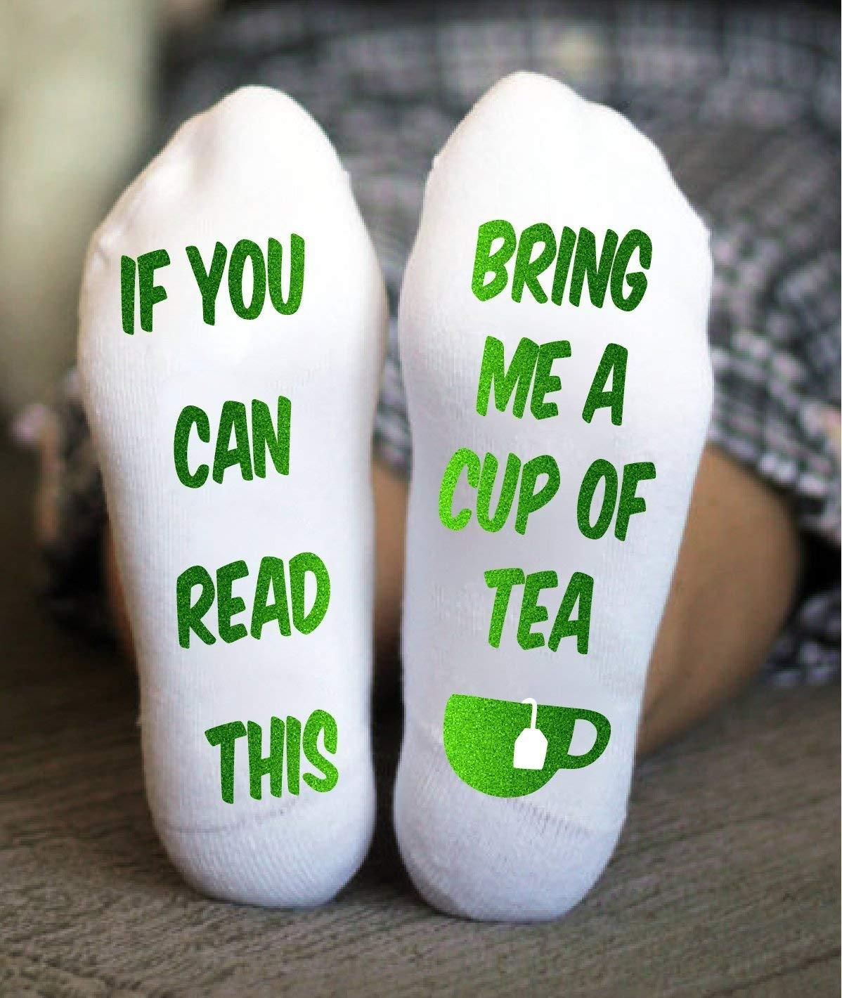 Bring Me Tea Socks Women If You Can Read This Grandma Gift