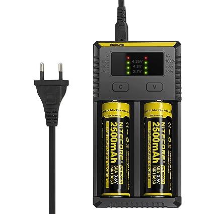 AUTOUTLET Nitecore - Cargador i2 para batería de Ion de ...