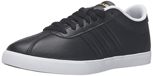 the latest bb75f 72419 adidas Womens Courtset Sneakers , Core BlackCore BlackMatte Gold, ...