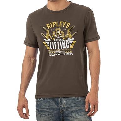TEXLAB - Ripley's Power Lifting - Herren T-Shirt, Größe S, braun