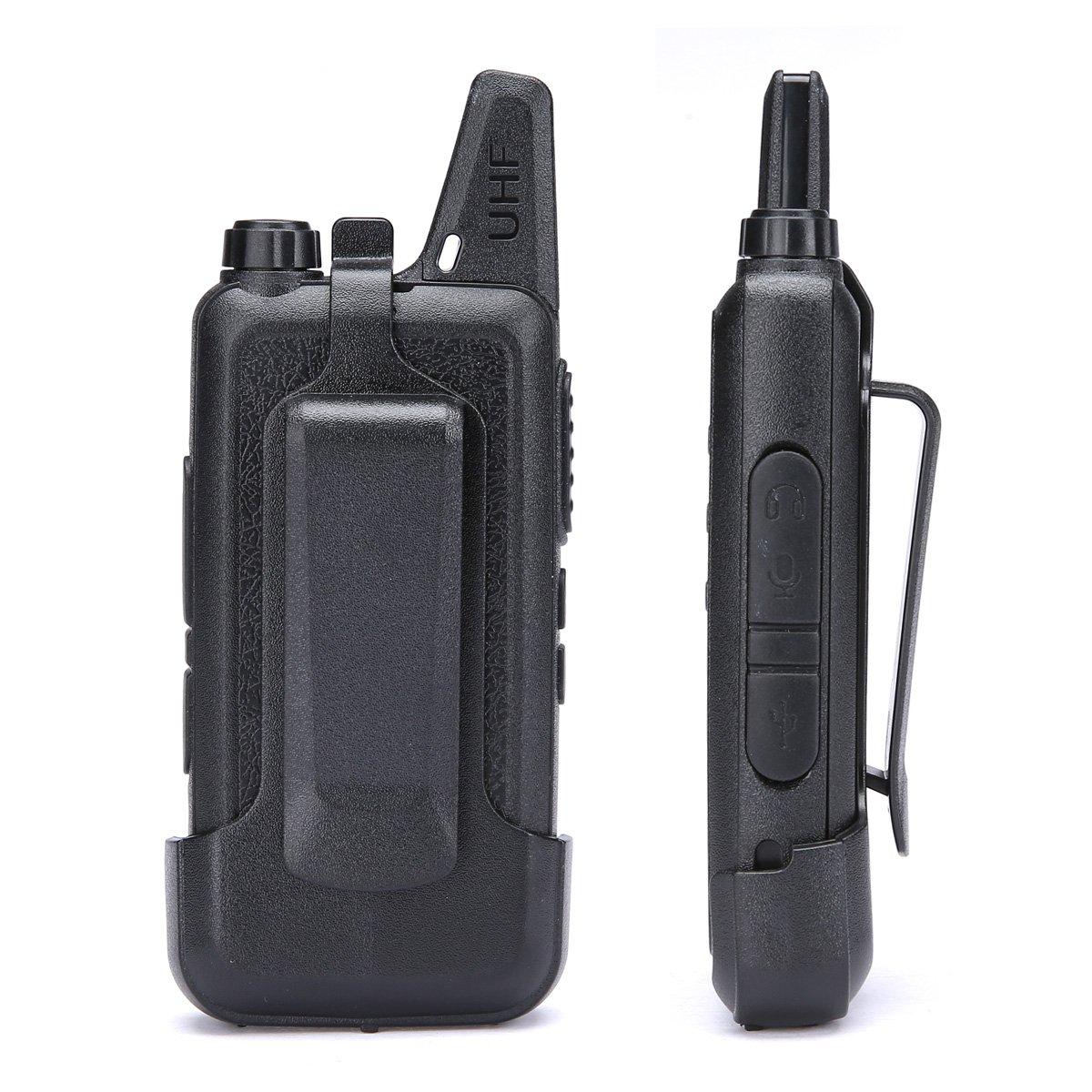 LUITON Mini Kids Walkie Talkies with Micro USB Charging LT-316 Uhf Two Way Radio (10 Pcs) by LUITON (Image #5)
